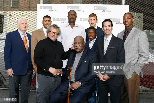 New York Knicks sports commentator John Andariese basketball player Allan Houston CEO of JA Apparel Corp Marty Staff head coach of New York Knicks...