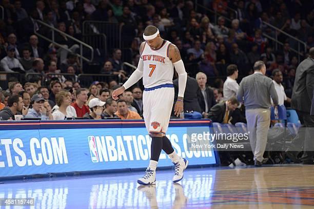 New York Knicks vs Chicago Bulls Opening Night at Madison Square Garden Knicks forward Carmelo Anthony