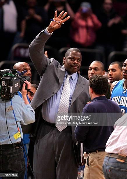 New York Knicks vs Orlando Magic at Madison Square Garden 1st half Magic Asst Coach Patrick Ewing