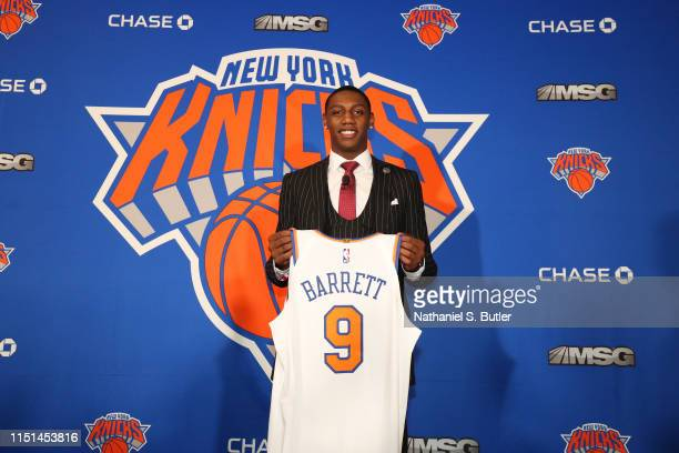 New York Knicks welcome RJ Barrett to the team and the city on June 21 2019 at Madison Square Garden in New York New York NOTE TO USER User expressly...