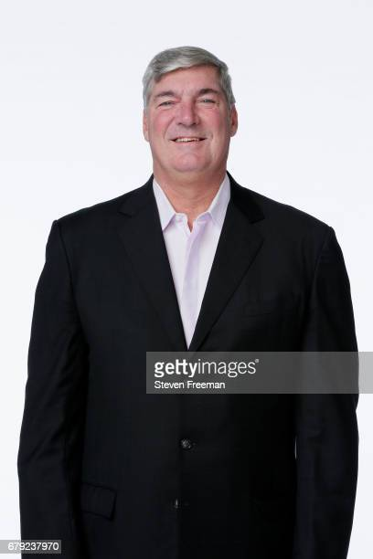 New York Liberty Coach Bill Laimbeer poses at Media Day at MSG Training Center on May 4 2017 in Tarrytown New York NOTE TO USER User expressly...