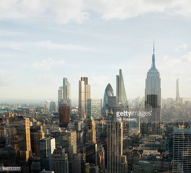 new york london city. - global village stock pictures, royalty-free photos & images