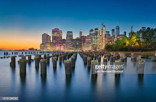 new york & long exposure - brooklyn new york stock pictures, royalty-free photos & images