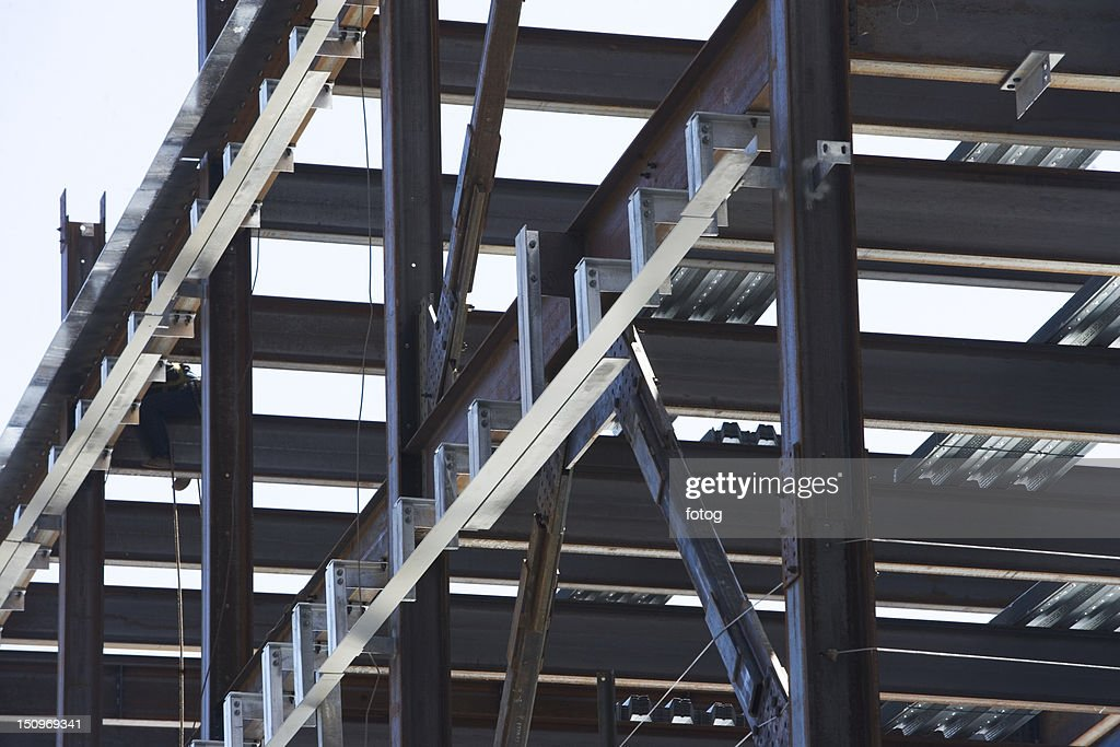 Usa New York Long Island City Close Up Of Construction Frame Stock ...