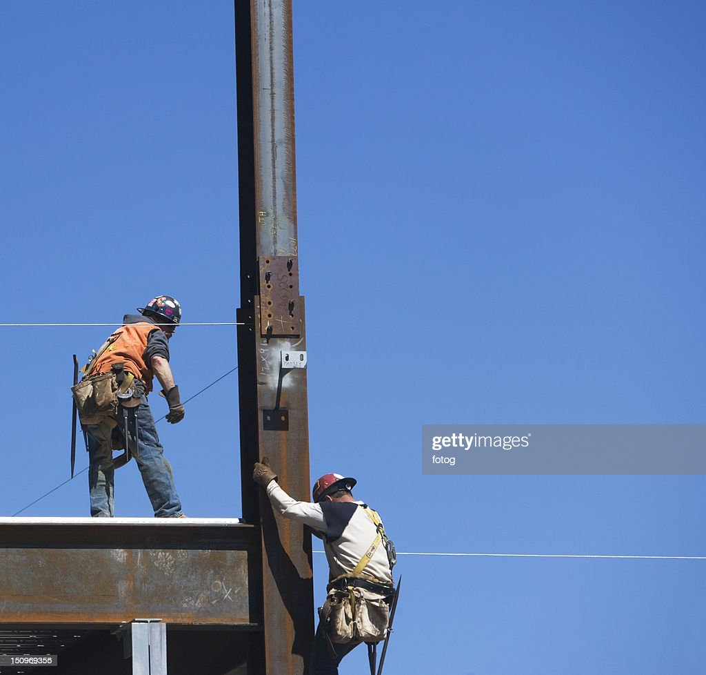 Usa New York Long Island City Construction Workers On Construction ...