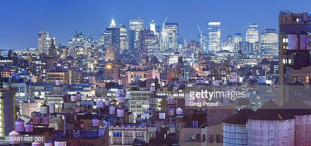 """usa, new york, lower manhattan, skyline, dusk - """"greg pease"""" stock pictures, royalty-free photos & images"""