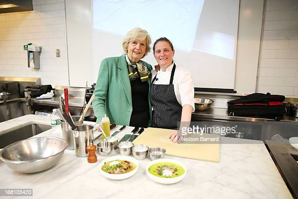 New York Magazine Culinary Editor Gillian Duffy and chef April Bloomfield of The Spotted Pig and The Breslin attend day 2 of the New York Culinary...