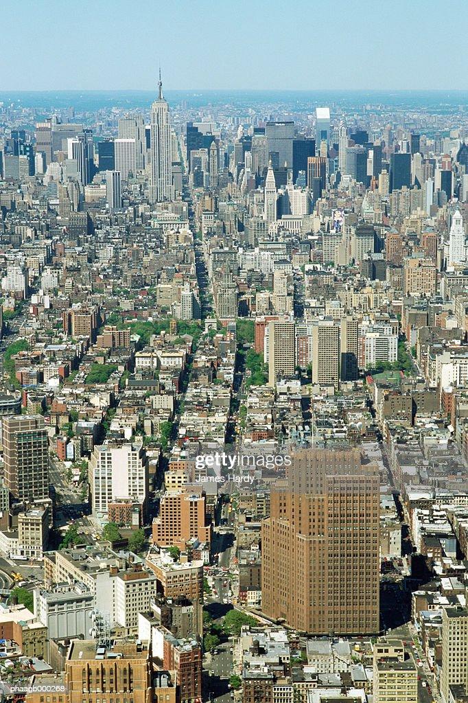 New York, Manhattan, aerial view : Stockfoto