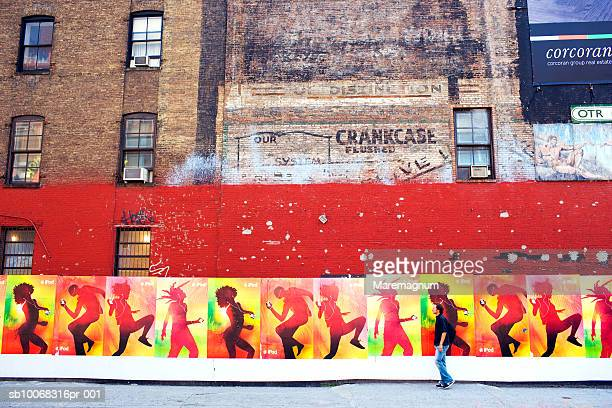 USA, New York, Manhattan, mural on building in Soho