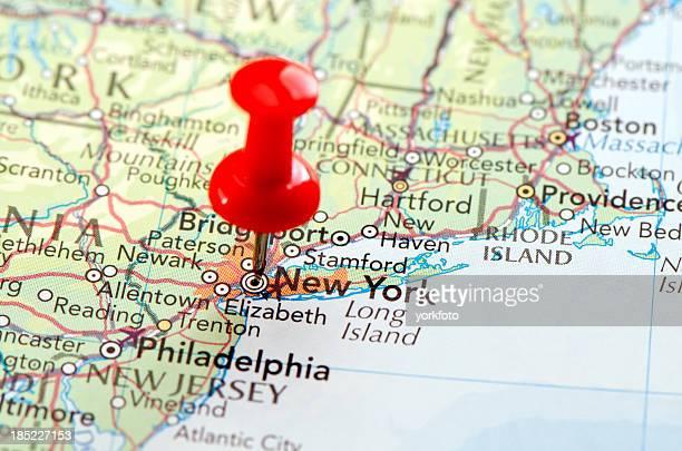 ニューヨークの地図 - アメリカ大西洋岸中部 ストックフォトと画像