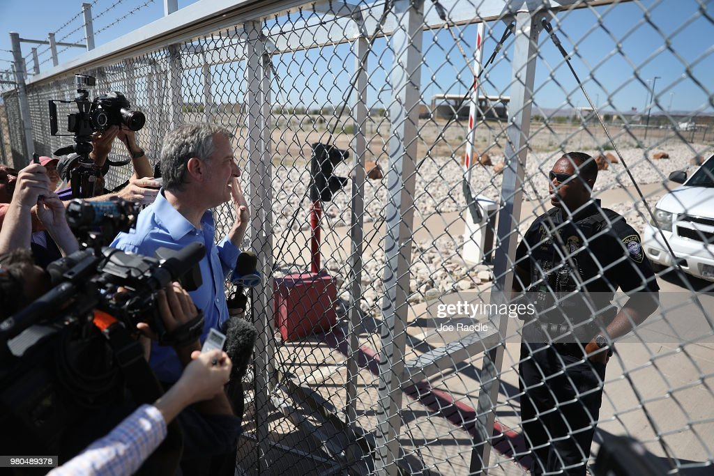 Bipartisan Group Of US Mayors Visits Border Crossing Near El Paso, Texas