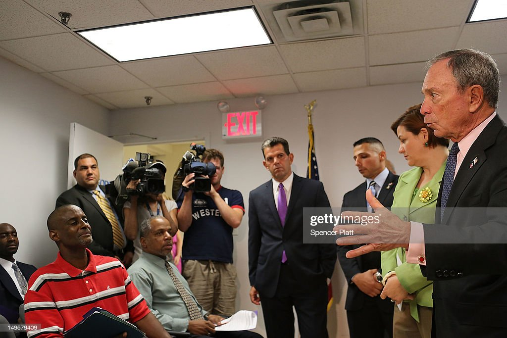 New York Mayor Michael Bloomberg speaks to jobless veterans at the opening of the Workforce1 Veterans Career Center on July 31, 2012 in New York City. The center will offer area veterans assistance in their job search, help with resumes and classes on how to perfect the interview process. According to the Bureau of Labor Statistics, the unemployment rate for all veterans in June was 7.4 percent.