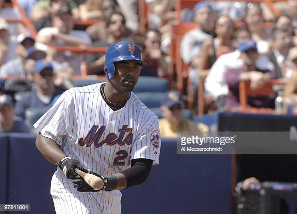 New York Mets Carlos Delgado against the Milwaukee Brewers at Shea Stadium in New York on April 16, 2006.