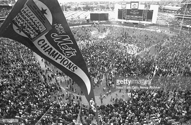 New York Mets defeat the Baltimore Orioles 53 in Game 5 of the 1969 World Series The best banner of 'em all flies over the heads of the fans who...
