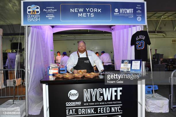 New York Mets executive chef Jason Eksterowicz attends the Blue Moon Burger Bash presented by Pat LaFrieda Meats hosted by Rachael Ray during the...