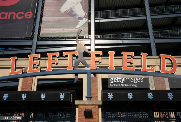 New York Mets fans enter the left field gate at a game against the Washington Nationals at Citifield in the Flushing neighborhood of the Queens...
