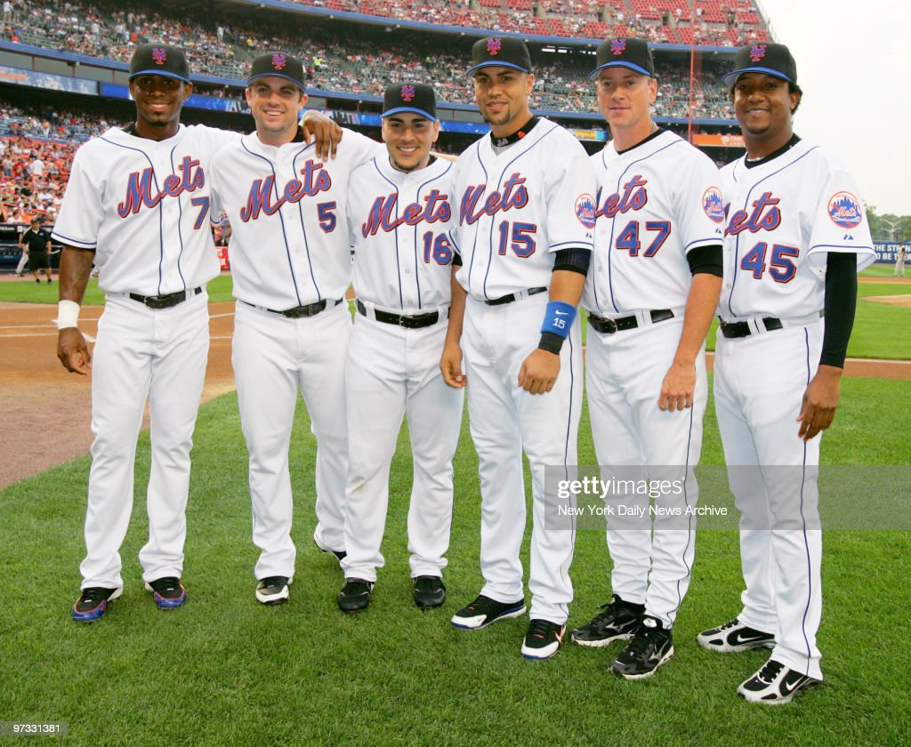 New York Mets Jose Reyes David Wright Paul Lo Duca