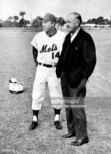 New York Mets' manager Gil Hodges and General Manager Johnny Murphy at the Mets' St Petersburg training camp