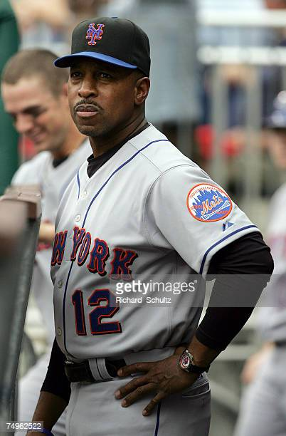 New York Mets' manager Willie Randolph in the dugout before the start of game one of a double header against the Philadelphia Phillies in Major...