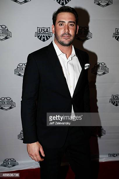 New York Mets pitcher Matt Harvey arrives for the 2014 Golden Goggle Awards at the Marriott Marquis Times Square on November 24 2014 in New York City