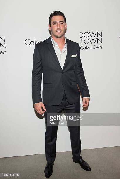New York Mets pitcher Matt Harvey attends the Calvin Klein Collection Spring 2014 after party at Spring Studios on September 12 2013 in New York City