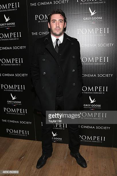 New York Mets pitcher Matt Harvey attends the 'Pompeii' screening hosted by TriStar Pictures with the Cinema Society and Grey Goose at Crosby Street...