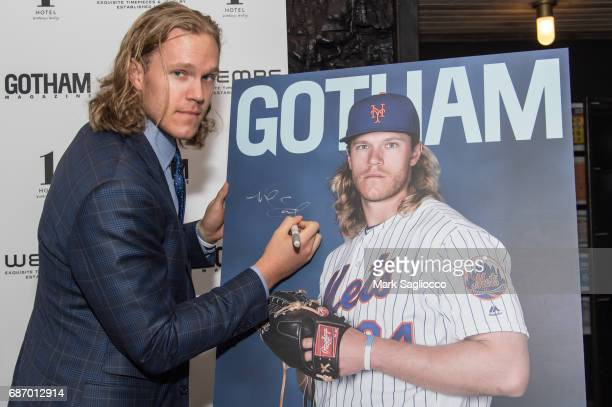 New York Mets Pitcher Noah Syndergaard attends Gotham Magazine's Celebration of it's Late Spring Issue with Noah Syndergaard at 1 Hotel Brooklyn...