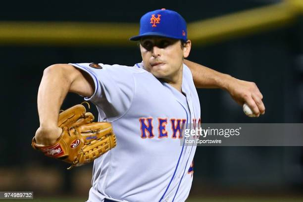 New York Mets relief pitcher Jason Vargas pitches during the MLB baseball game between the Arizona Diamondbacks and the New York Mets on June 14 2018...