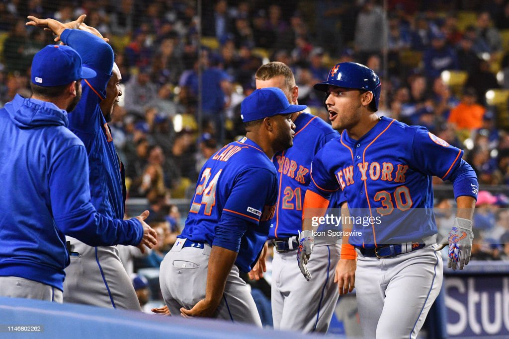 d4664a48f7b New York Mets right fielder Michael Conforto celebrates after a ...