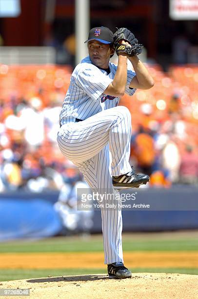 New York Mets' starter Kazuhisa Ishii winds up for a pitch against the San Diego Padres during game at Shea Stadium He gave up just four hits in six...