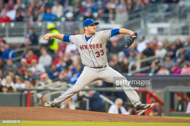 New York Mets Starting pitcher Matt Harvey during a Major League Baseball game between the New York Mets and the Atlanta Braves on April 19 2018 at...