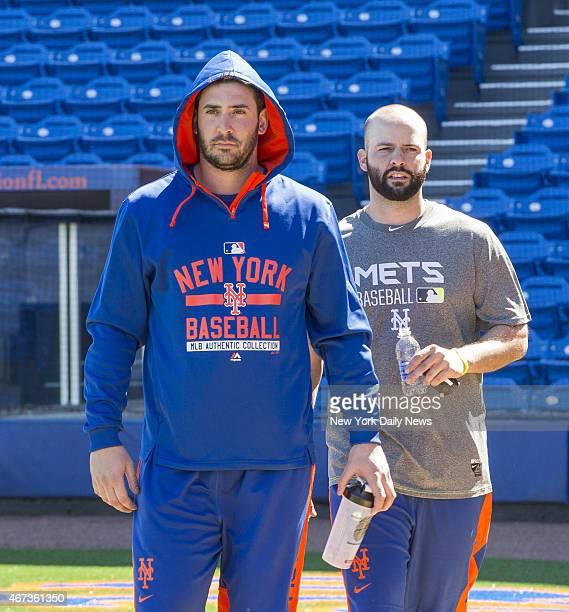 New York Mets starting pitcher Matt Harvey New York Mets starting pitcher Dillon Gee Howard Simmons/NY Daily News via Getty Images