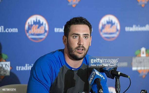 New York Mets starting pitcher Matt Harvey press conference New York Mets Spring Training Pitchers Catchers
