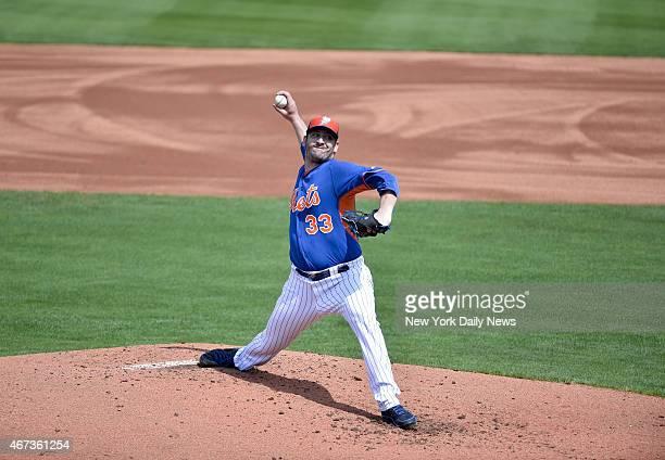 New York Mets starting pitcher Matt Harvey start his 1st game since injury.