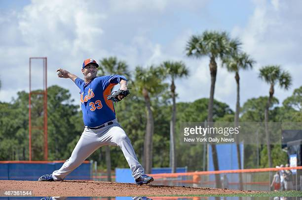 New York Mets starting pitcher Matt Harvey throwing to hitters New York Mets Spring Training Monday Howard Simmons/NY Daily News via Getty Images