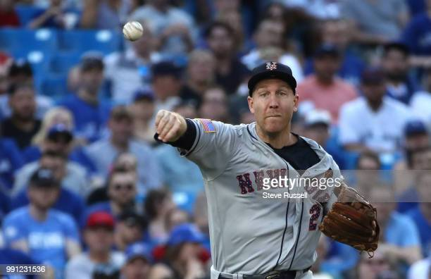 TORONTO ON JULY 3 New York Mets third baseman Todd Frazier as the Toronto Blue Jays beat the New York Mets 86 at the Rogers Centre in Toronto July 3...