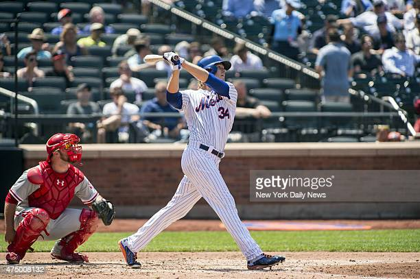 New York Mets vs Philadelphia Phillies @ Citi Field New York Mets starting pitcher Noah Syndergaard solo homer in the 4th inning
