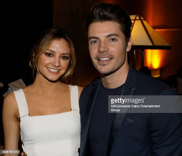 New York Midseason Press Day March 2017 Pictured Christine Evangelista Josh Henderson 'The Arrangement' on E Entertainment