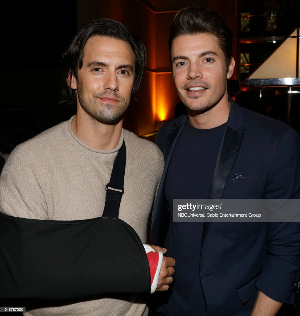 New York Midseason Press Day, March 2017 -- Pictured: (l-r) Milo Ventimiglia 'This Is Us' on NBC, Josh Henderson 'The Arrangement' on E! Entertainment --