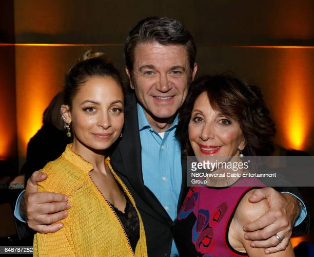 New York Midseason Press Day March 2017 Pictured Nicole Richie John Michael Higgins Andrea Martin Great News on NBC