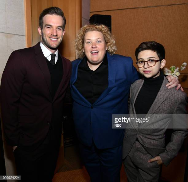 EVENTS 'NBC New York Midseason Press Day' Pictured Andy Favreau Fortune Feimster JJ Totah from 'Champions' on NBC