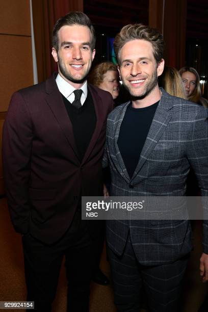 EVENTS 'NBC New York Midseason Press Day' Pictured Andy Favreau from 'Champions' on NBC Glenn Howerton from 'AP Bio' on NBC