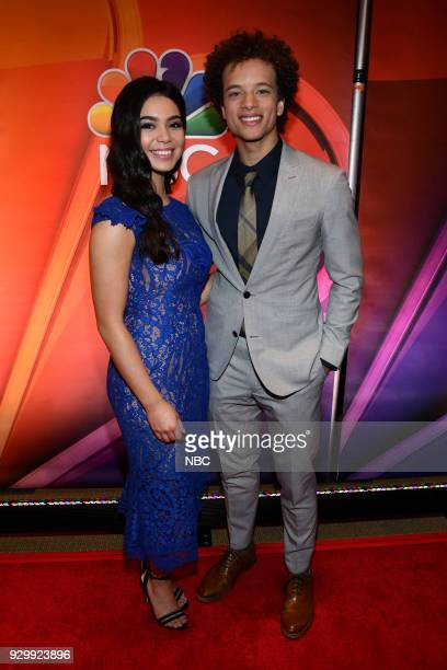 EVENTS 'NBC New York Midseason Press Day' Pictured Auli'i Carvalho Damon J Gillespie from 'Rise' on NBC