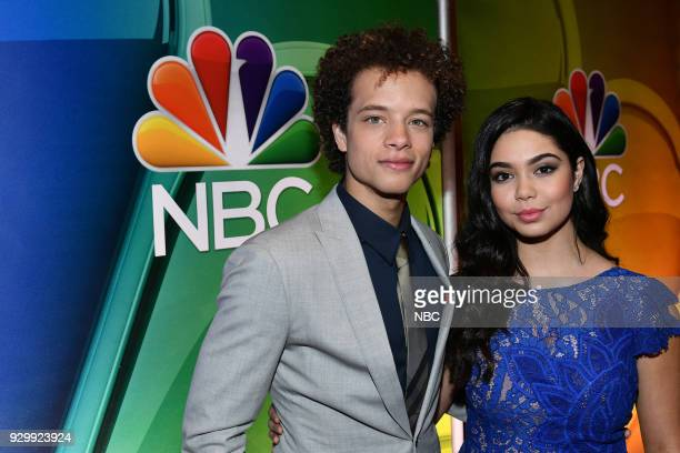 EVENTS 'NBC New York Midseason Press Day' Pictured Damon J Gillespie Auli'i Carvalho from 'Rise' on NBC
