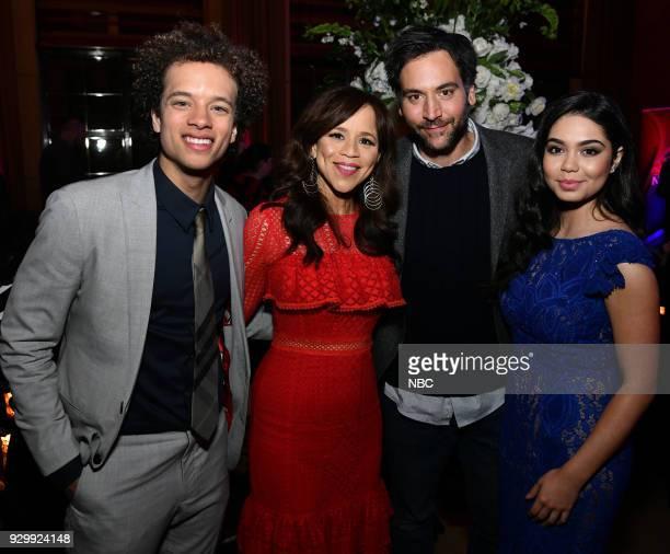 EVENTS 'NBC New York Midseason Press Day' Pictured Damon J Gillespie Rosie Perez Josh Radnor Auli'i Carvalho from 'Rise' on NBC