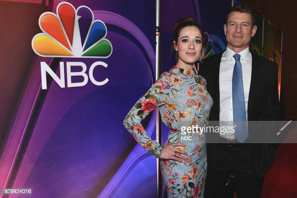 EVENTS NBC New York Midseason Press Day Pictured Marina Squerciati from Chicago PD on NBC Philip Winchester from Law Order Special Victims Unit on NBC