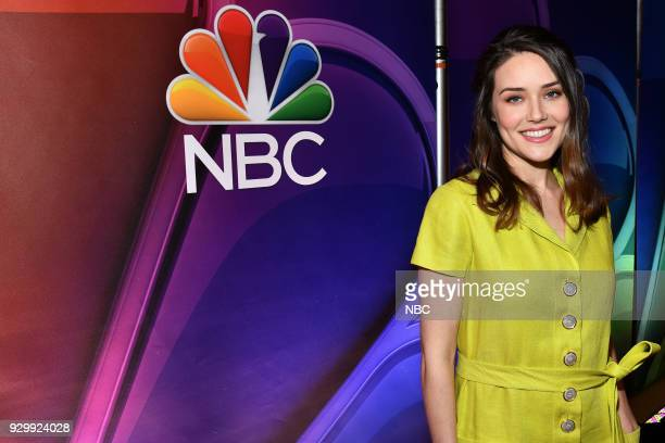 EVENTS NBC New York Midseason Press Day Pictured Megan Boone from The Blacklist on NBC