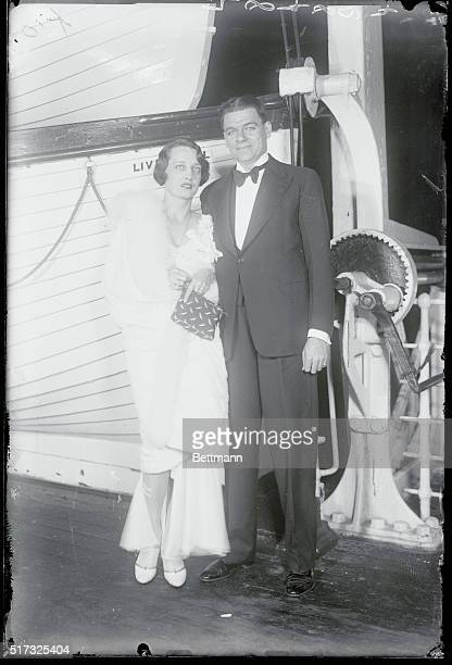 New York Mr and Mrs Oscar Hammerstein 11 as they soiled in the SS Olympic tonight for honeymoon abroad Mr Hammer stein is the noted theatrical...