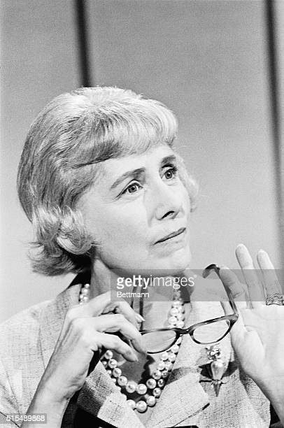New York: Mrs. Clare Boothe Luce seems thoughtful during an appearance on a television program here during which she announced her withdrawal as a...