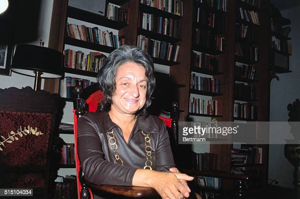 Betty Friedan author and President of the woman's liberation group the National Organization for Women 'Now'